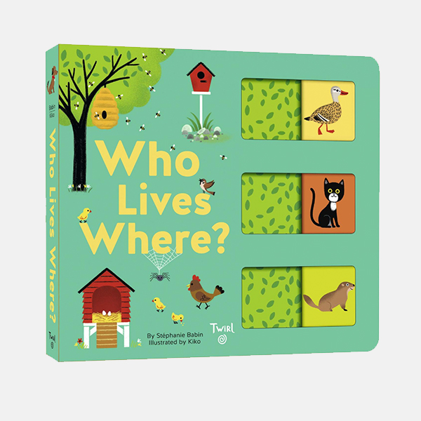 Who Lives Where? Board Book