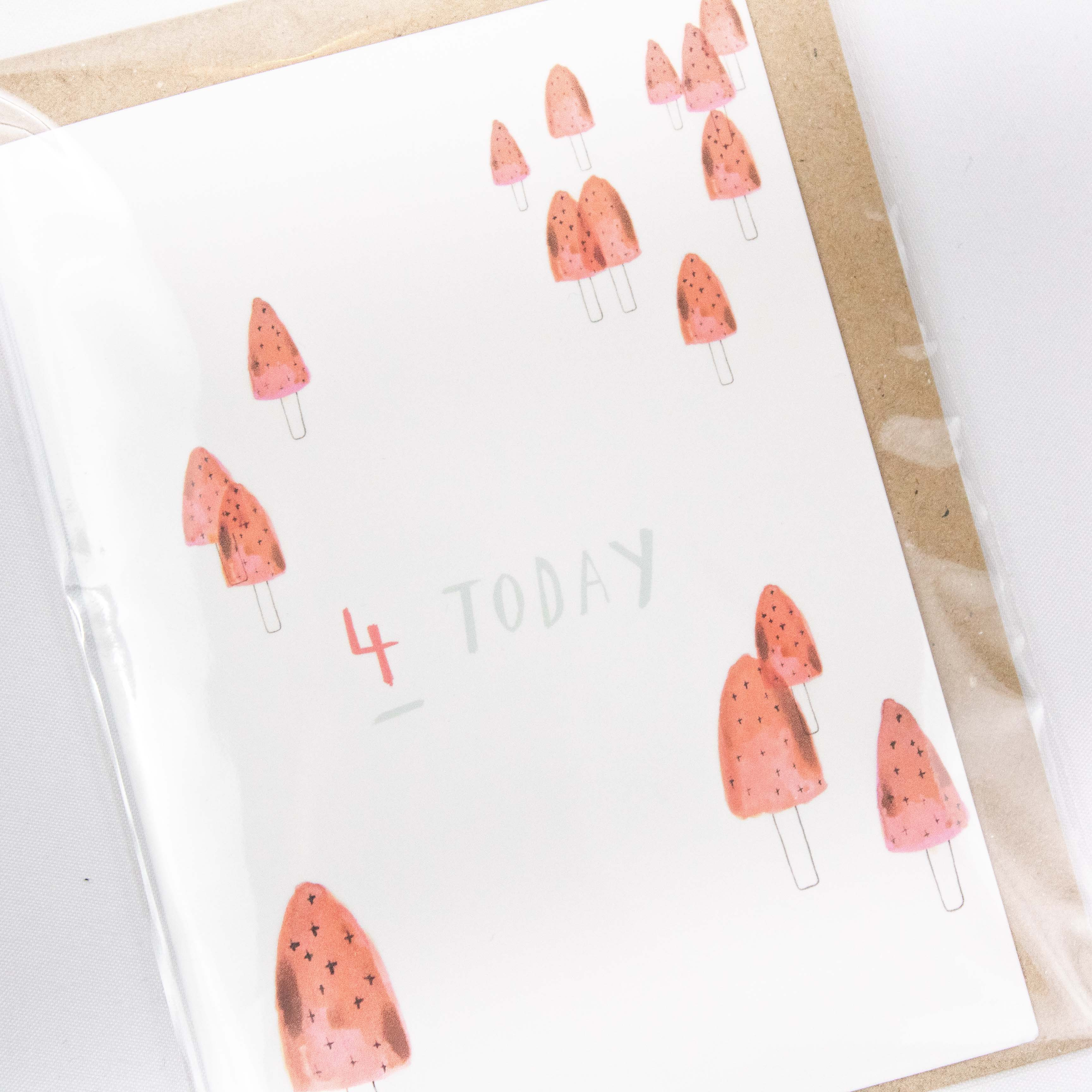 Plewsy - Four Today Card