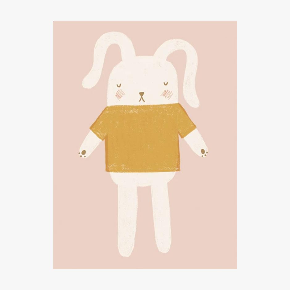 Raspberry Blossom - Bunny Print Pink