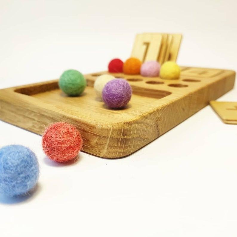Three Wood - Maths Board 1-10