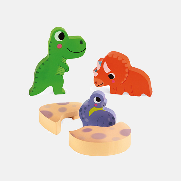 Janod - Wooden Dino Hide & Seek Puzzle