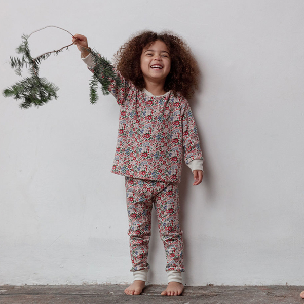 Sleepy Doe - Kids Classic PJ Set Winter Floral
