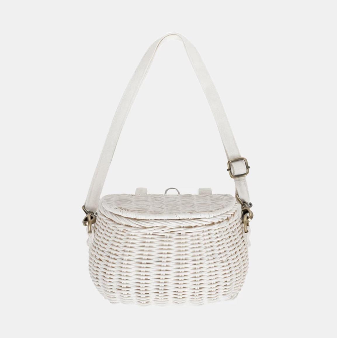 Olli Ella - Mini Chari Basket (white only)