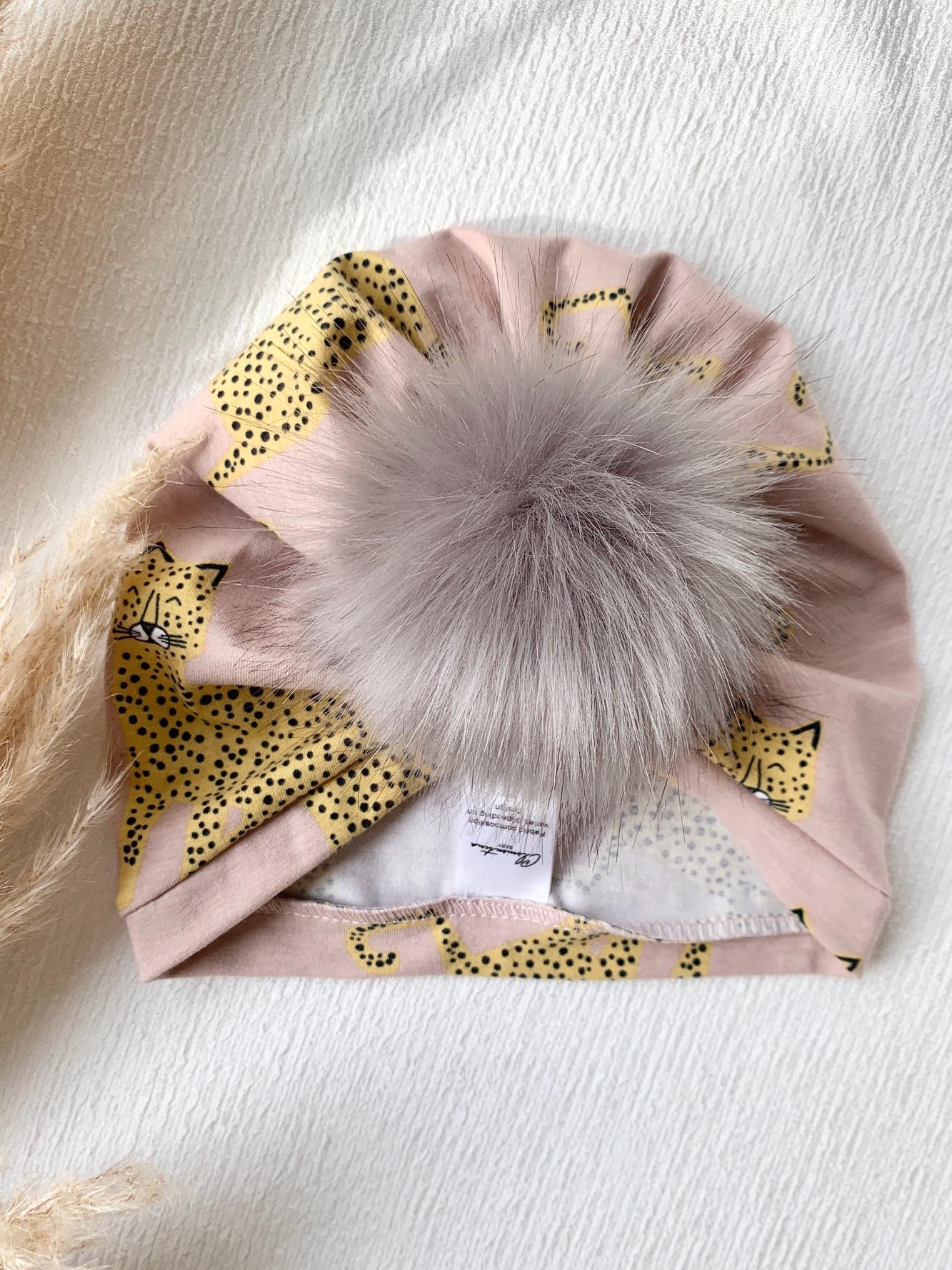Clementina Baby - Cheetah Pom Turban