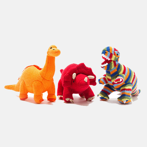 Best Years - Red Triceratops Rattle