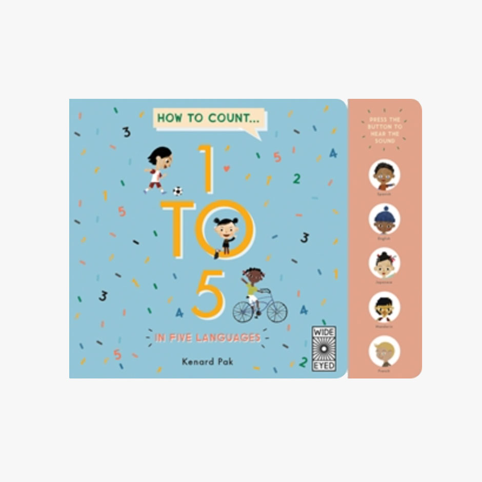 Count 1 to 5 in Five Languages Sound Board Book