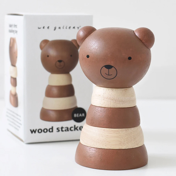 Wee Gallery - Wooden Bear Stacker