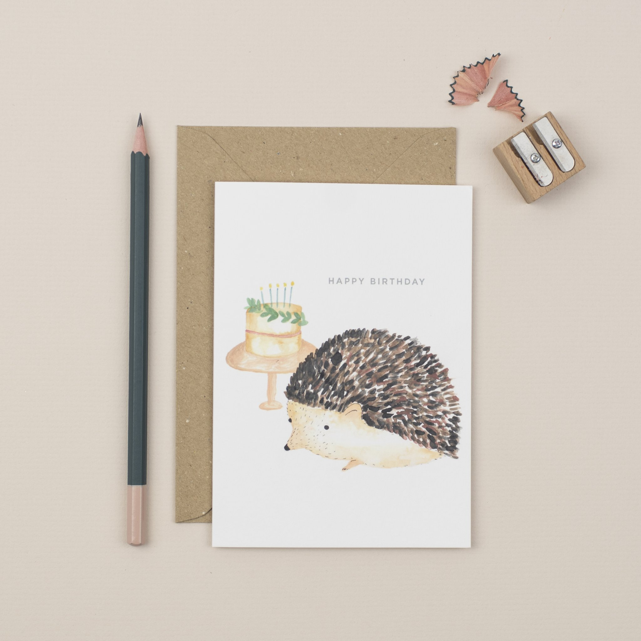 Plewsy - Birthday Hedgehog Card
