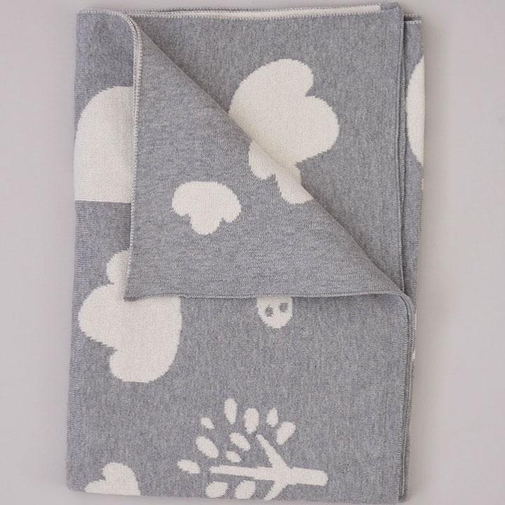 Sophie Home - Grey Giraffe Baby Blanket