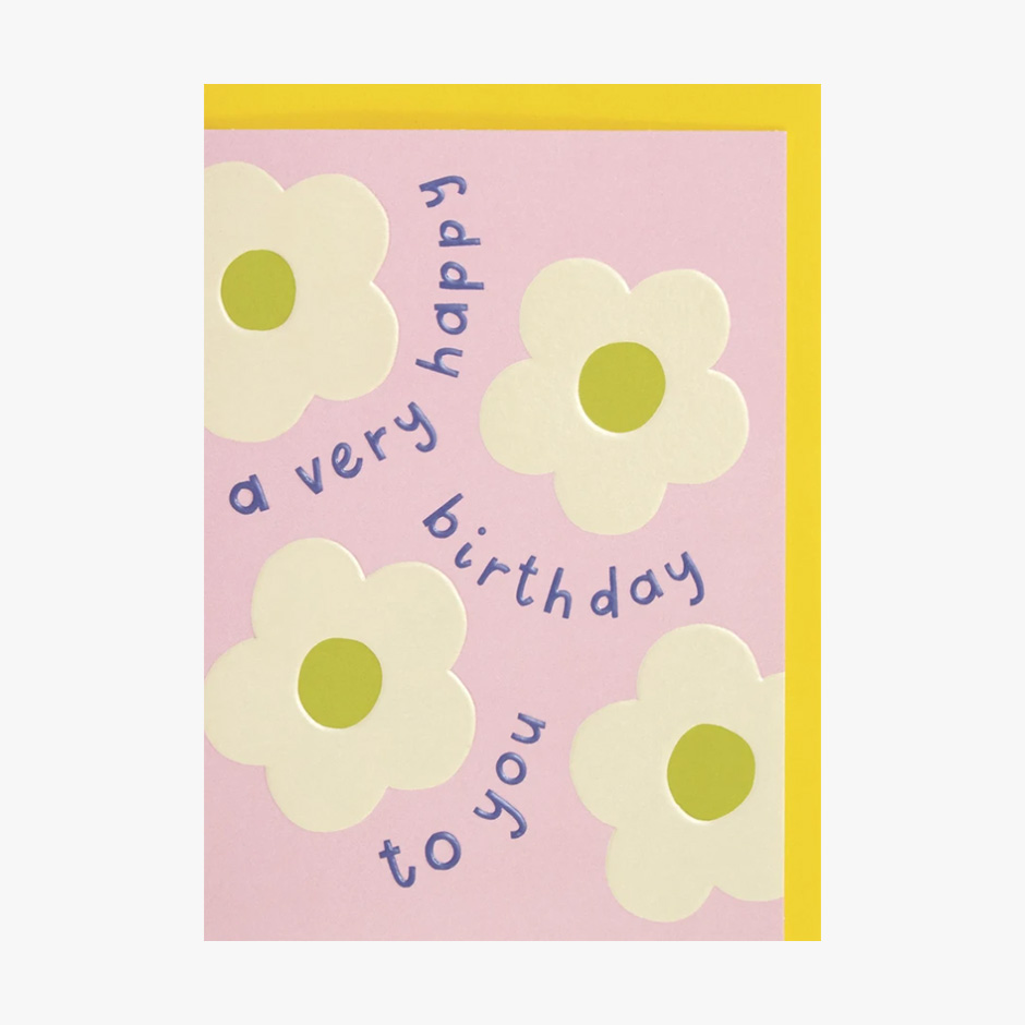 Raspberry Blossom - Very Happy Birthday Card