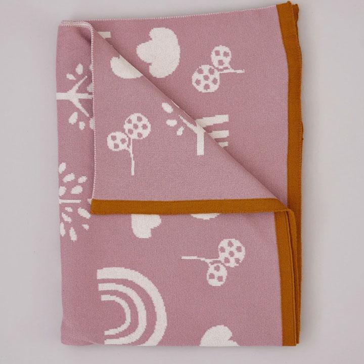 Sophie Home - Pink Rainbow Baby Blanket