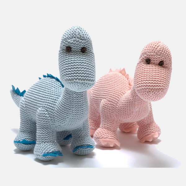 Sweet Baby - Knitted Diplodocus Rattle