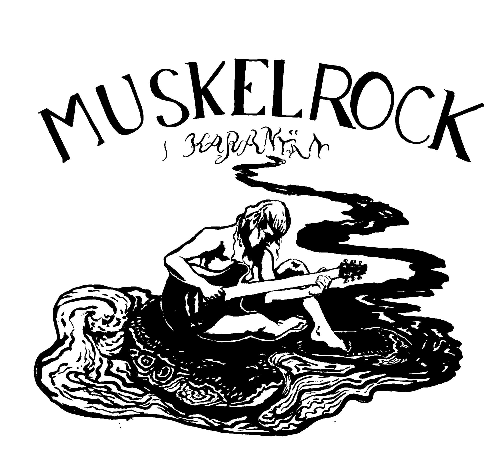 KarantänMuskelrock #2 Tygkasse/Tote Bag