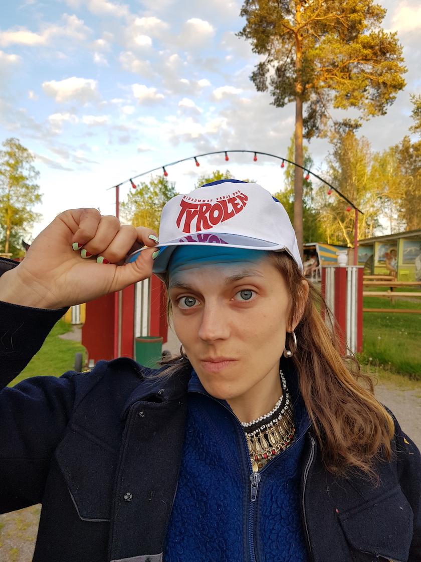 Tyrolen Keps Retro Blå/Vit