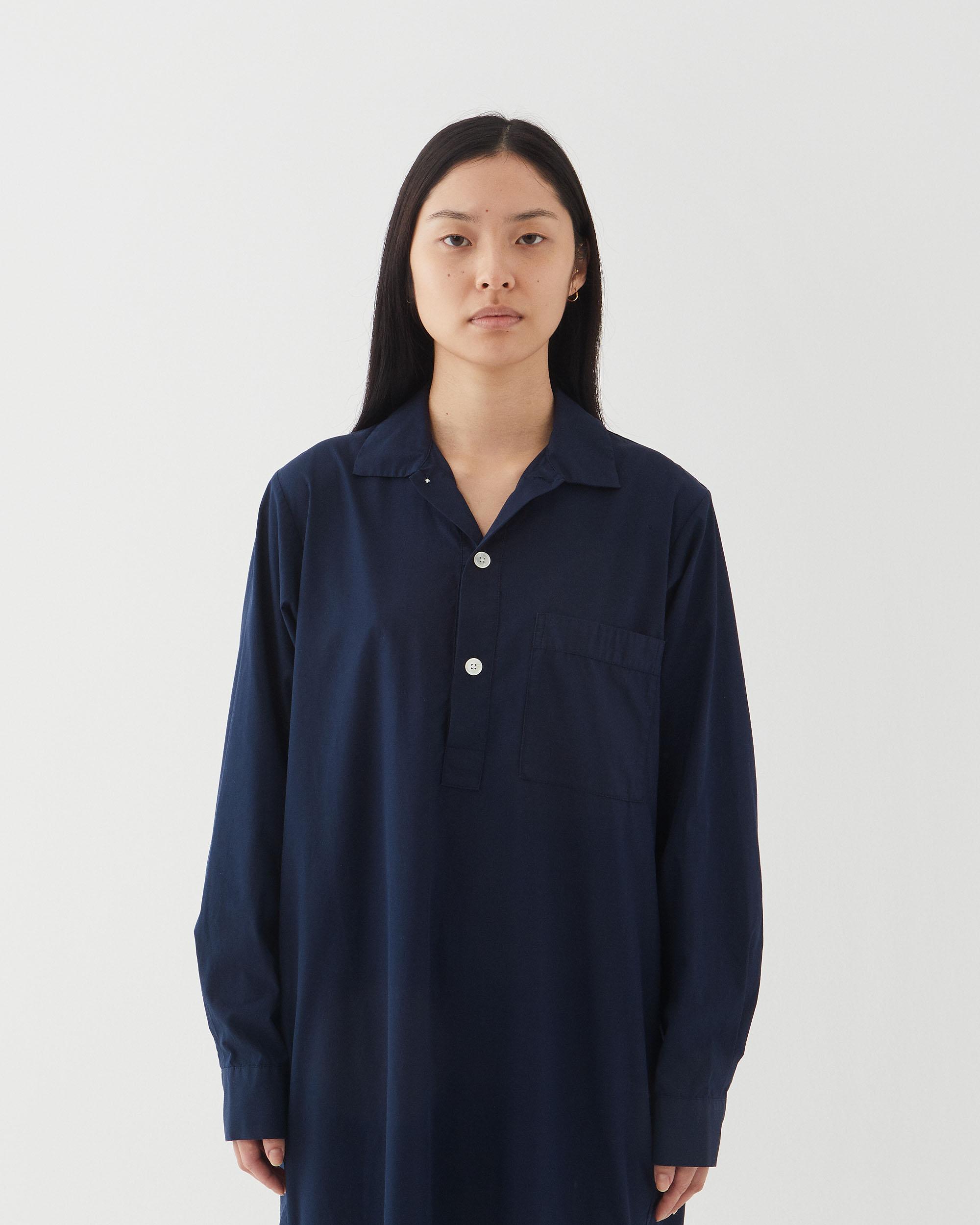 Tekla Poplin Night Shirt True Navy