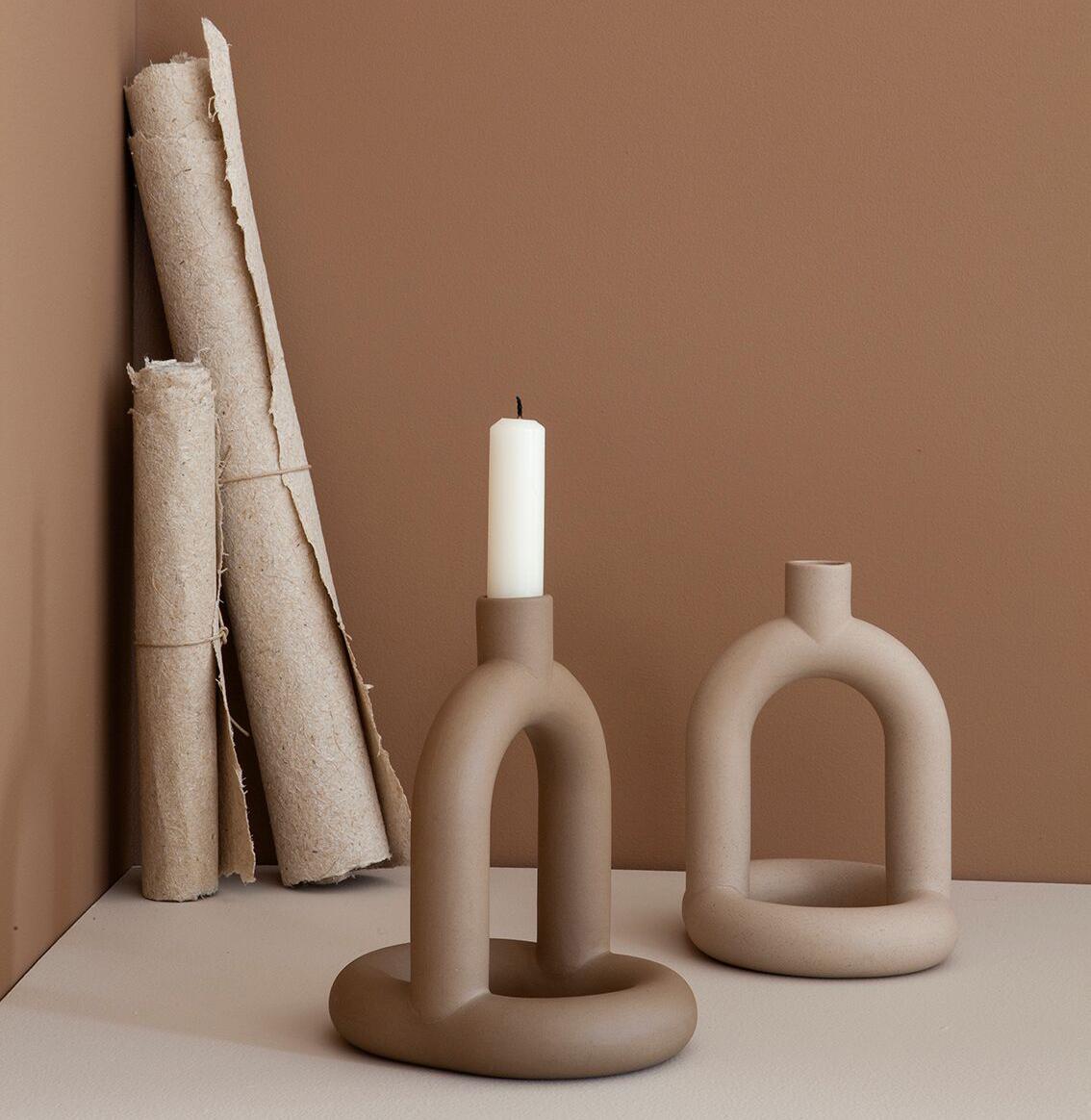 Noidoi Kapp Candleholder Sand