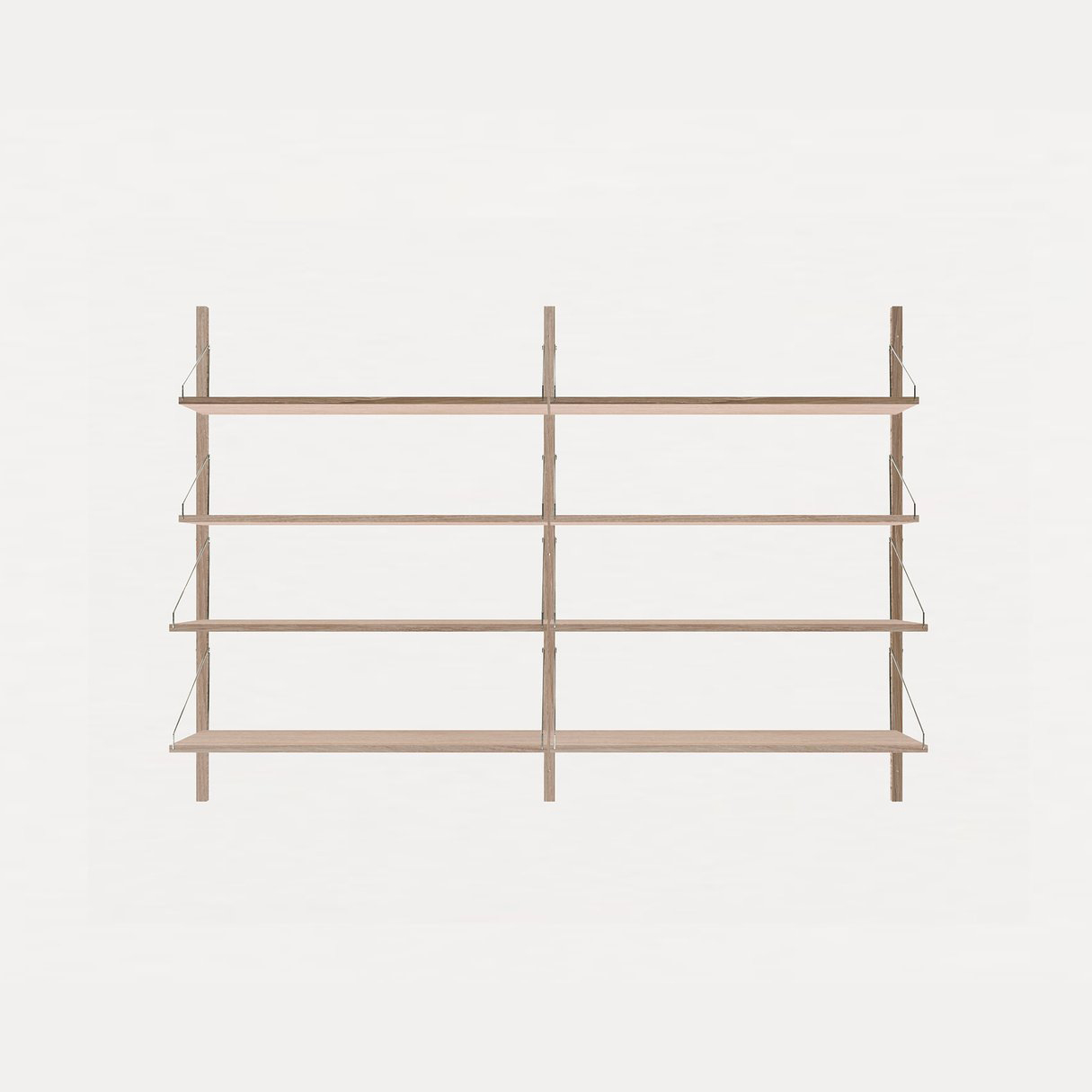 Frama Shelf Library White Oak H1148 / Double section