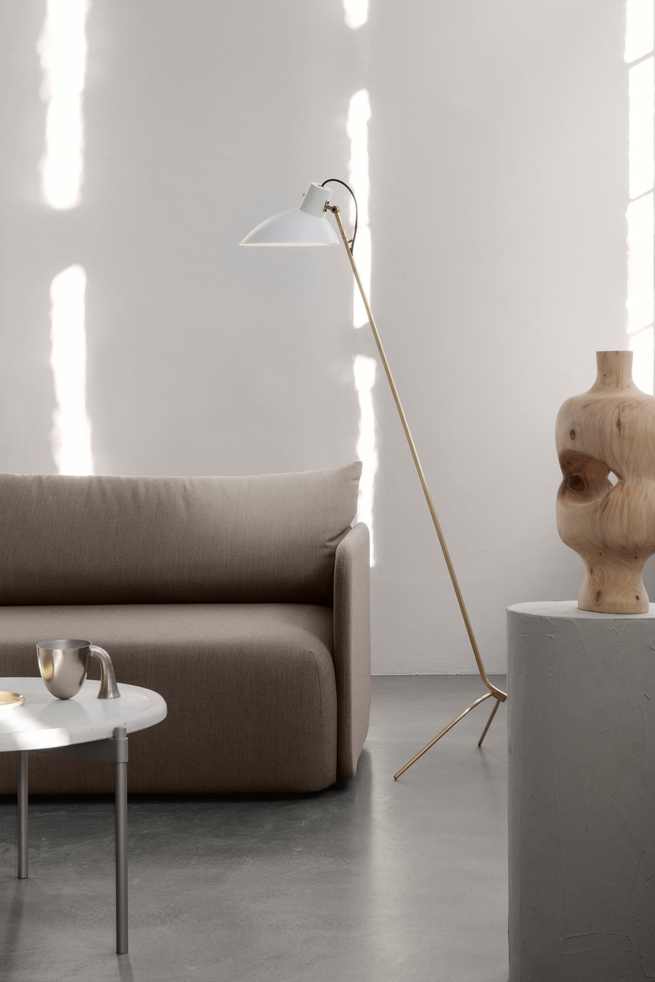 Astep VV Cinquanta Floor Lamp Brass