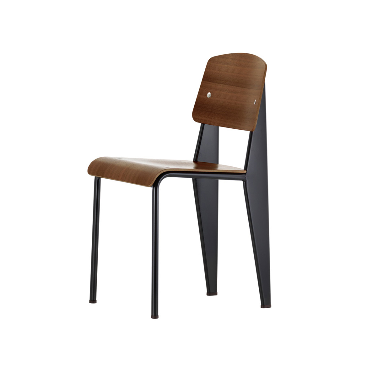 Vitra Standard Chair Walnut Black Pigmented