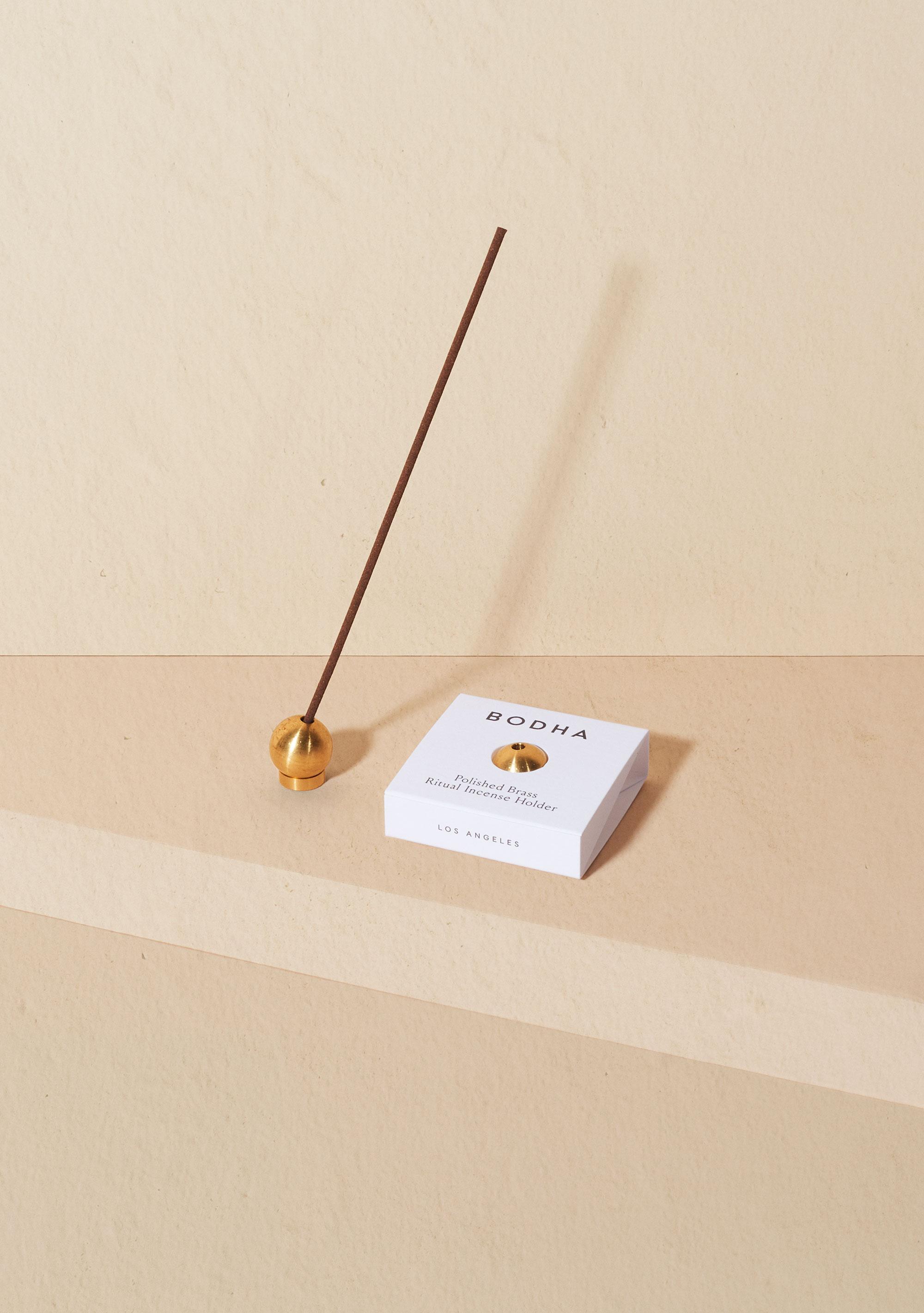 Bodha Ritual Incense Holder Brass