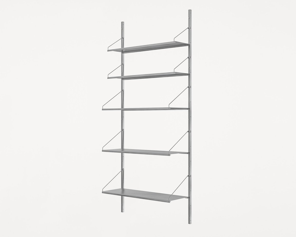 Frama Shelf Library Stainless Steel / H185,2 / W80 Section