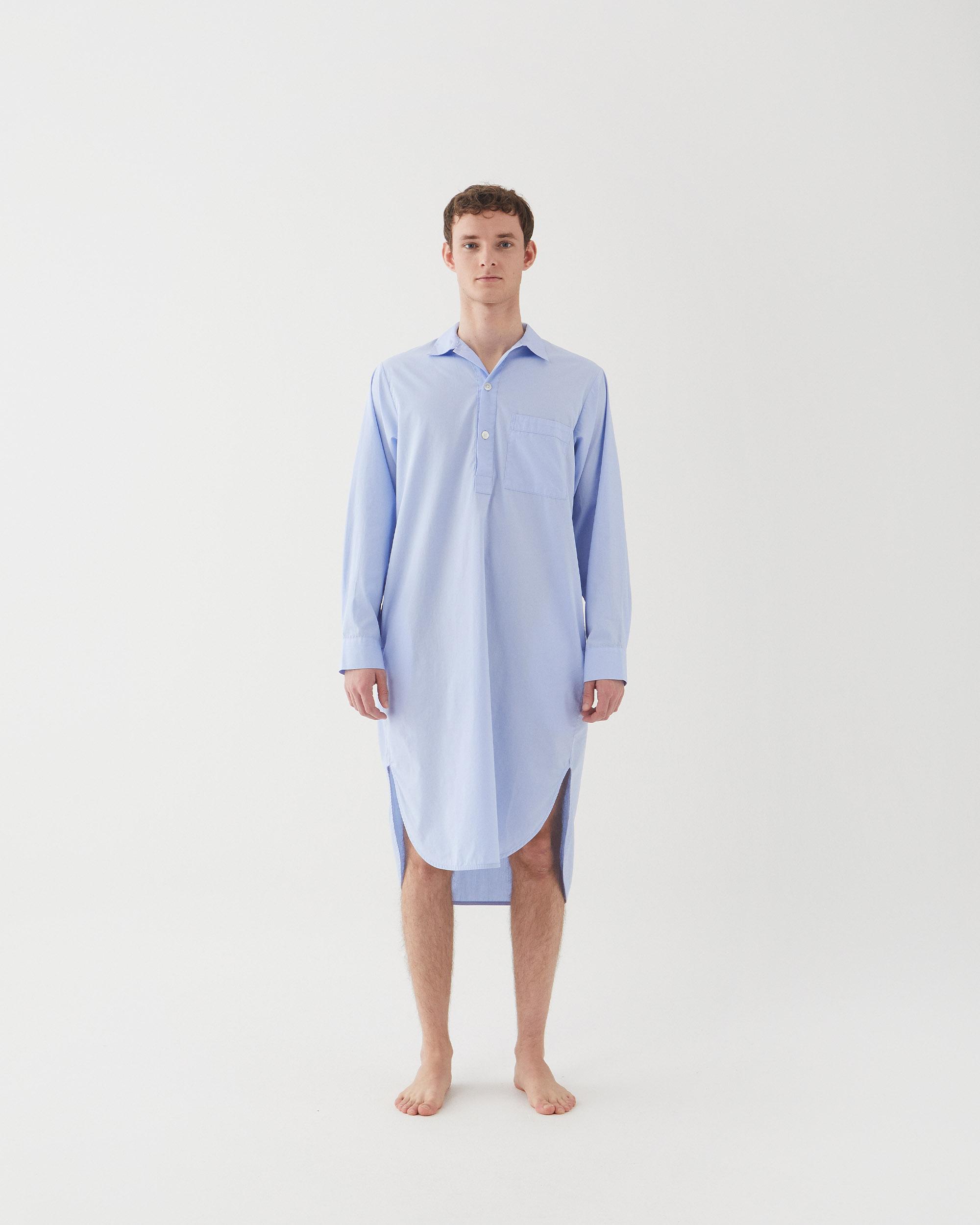 Tekla Poplin Night Shirt - Shirt blue