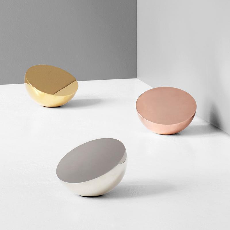 New Works Aura Table Mirror - Brass