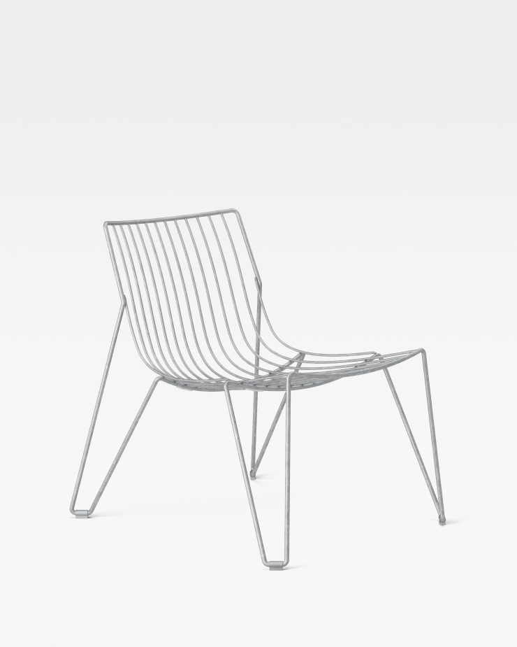 Massproductions Tio Easy Chair - Hot Dip Galvanised