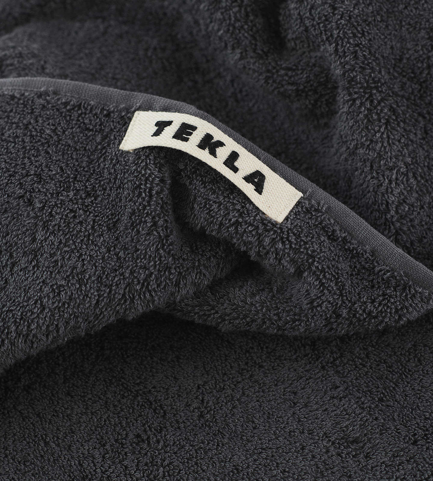 Tekla Organic Terry Towel - Charcoal Grey