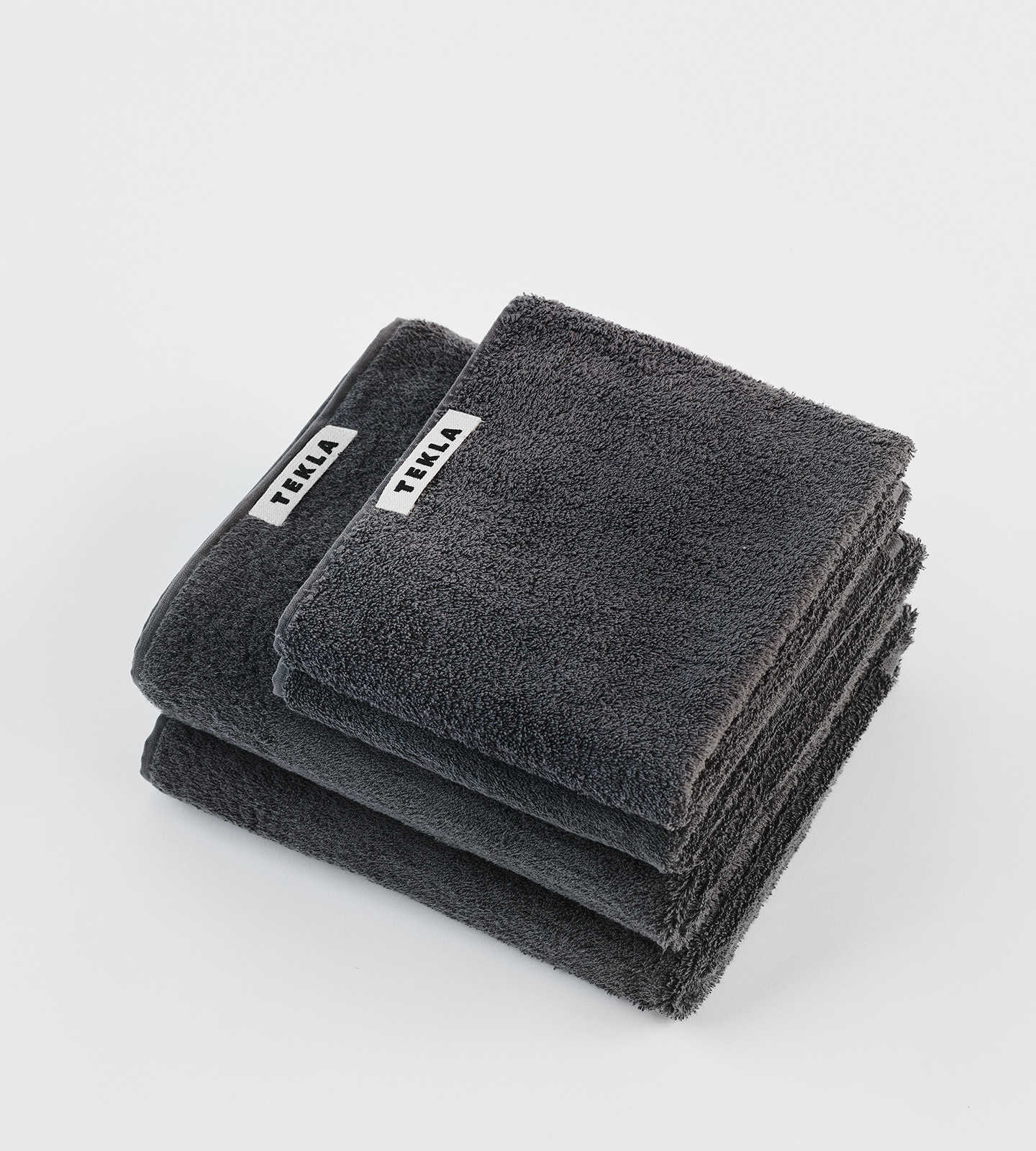 Tekla Organic Terry Towel - Charcoal Grey