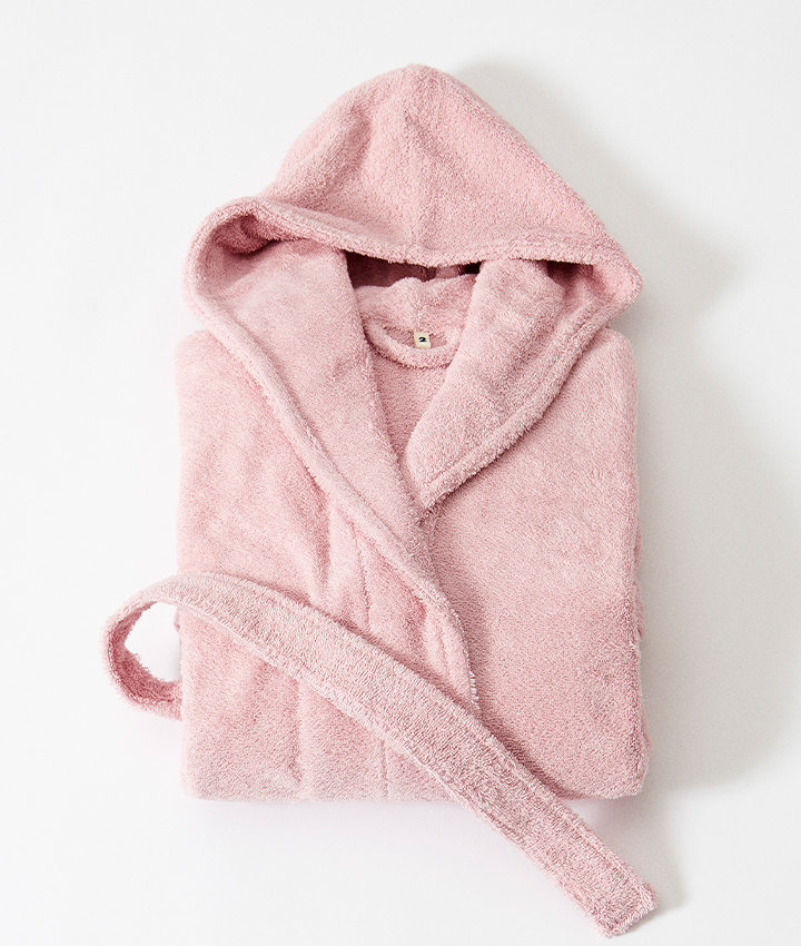 Tekla Terry Bathrobe - Stella Pink