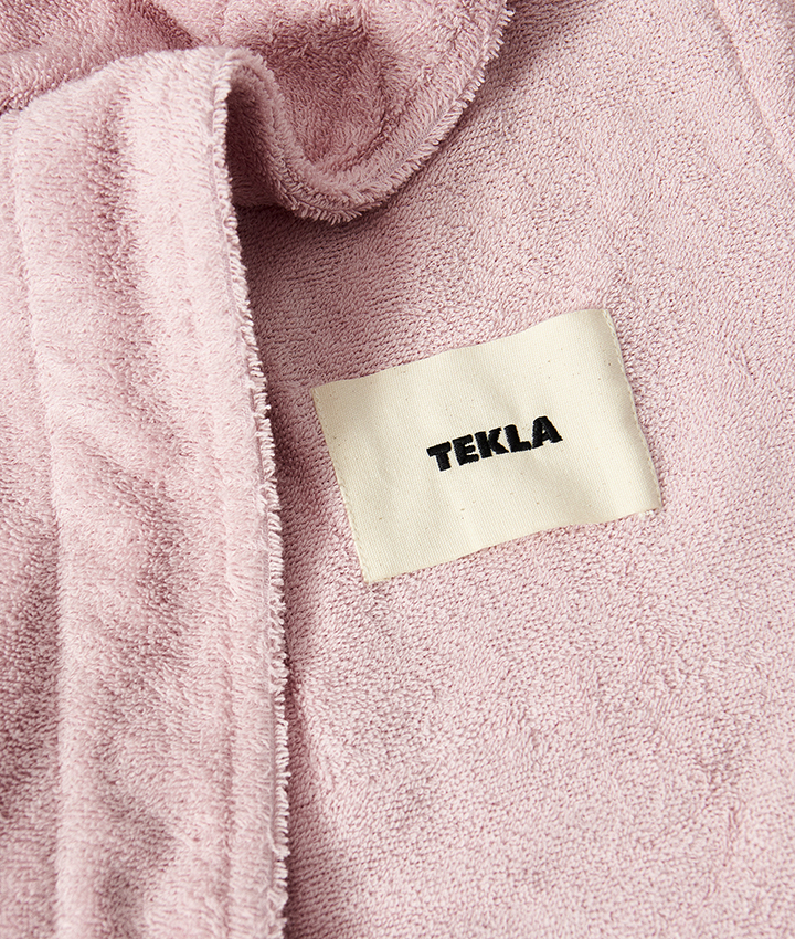 Tekla Hooded Bathrobe - Stella Pink