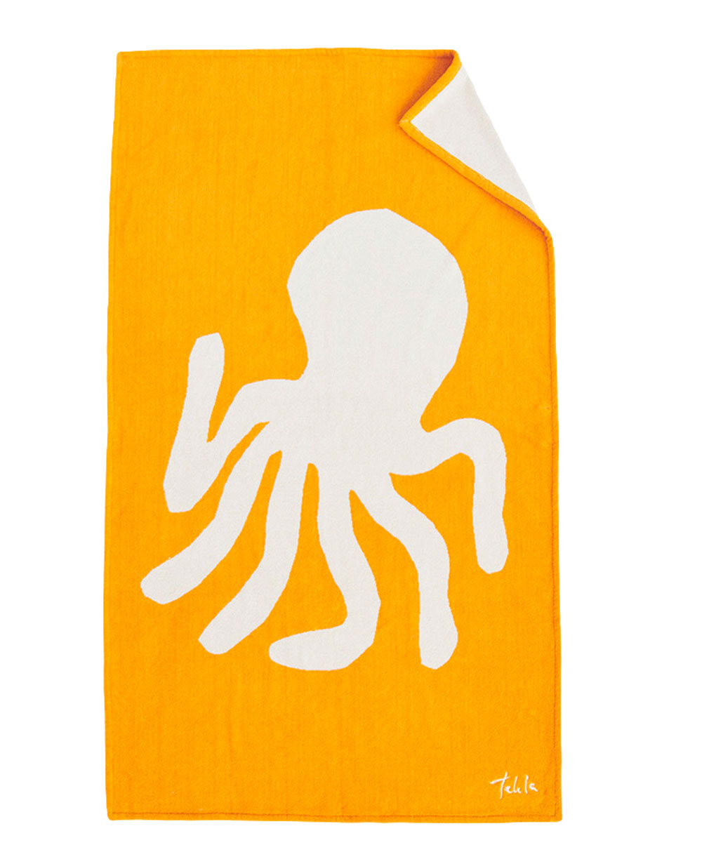 Tekla Organic Beach Towel Octopus