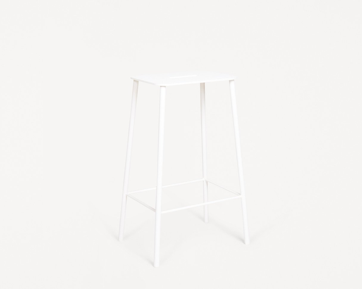 Frama Adam Stool Mono | White | H65