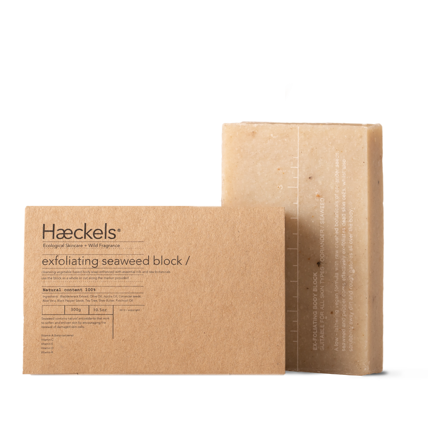 Haeckels Large Exfoliating Vegan Seaweed Block