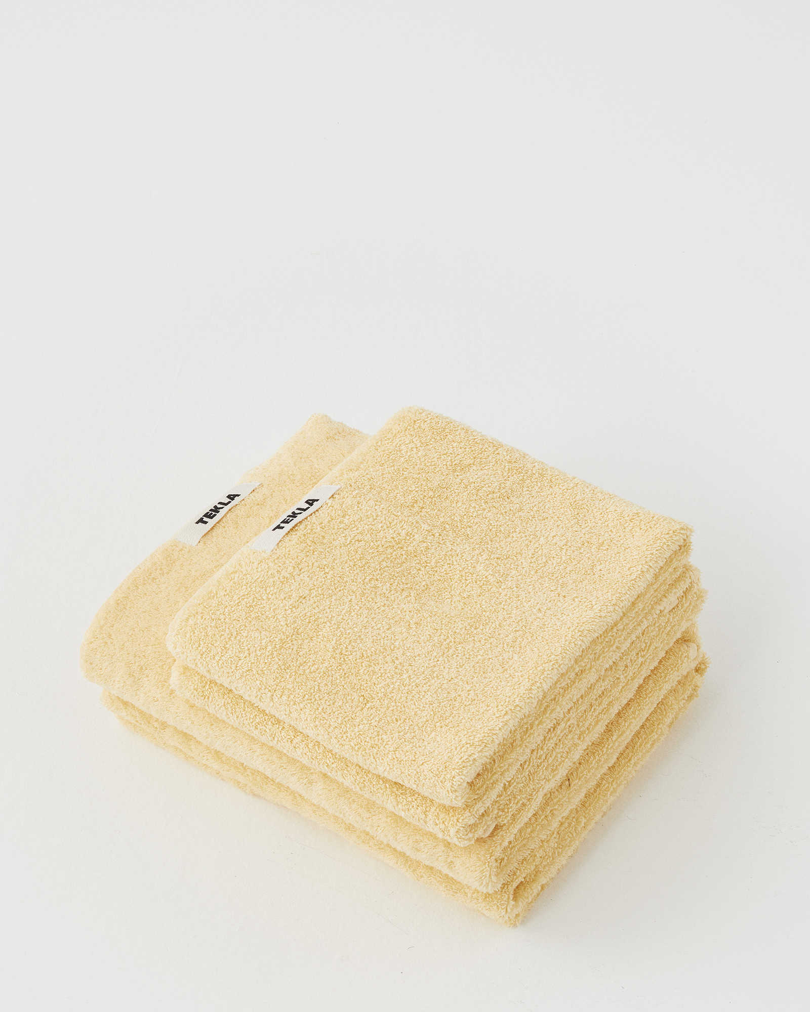 Tekla Organic Terry Towel - Tender Yellow