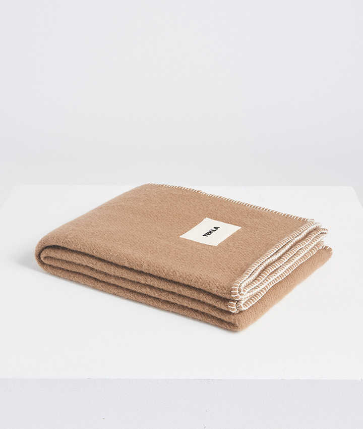 Tekla Pure New Wool Blanket Hazel brown