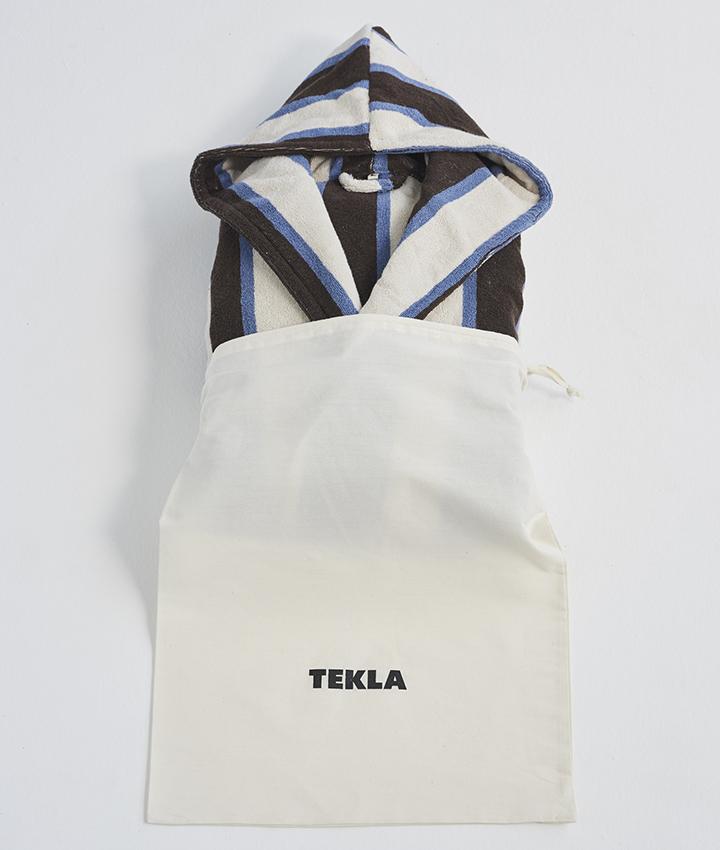 Tekla Hooded Bathrobe - Cocoa White