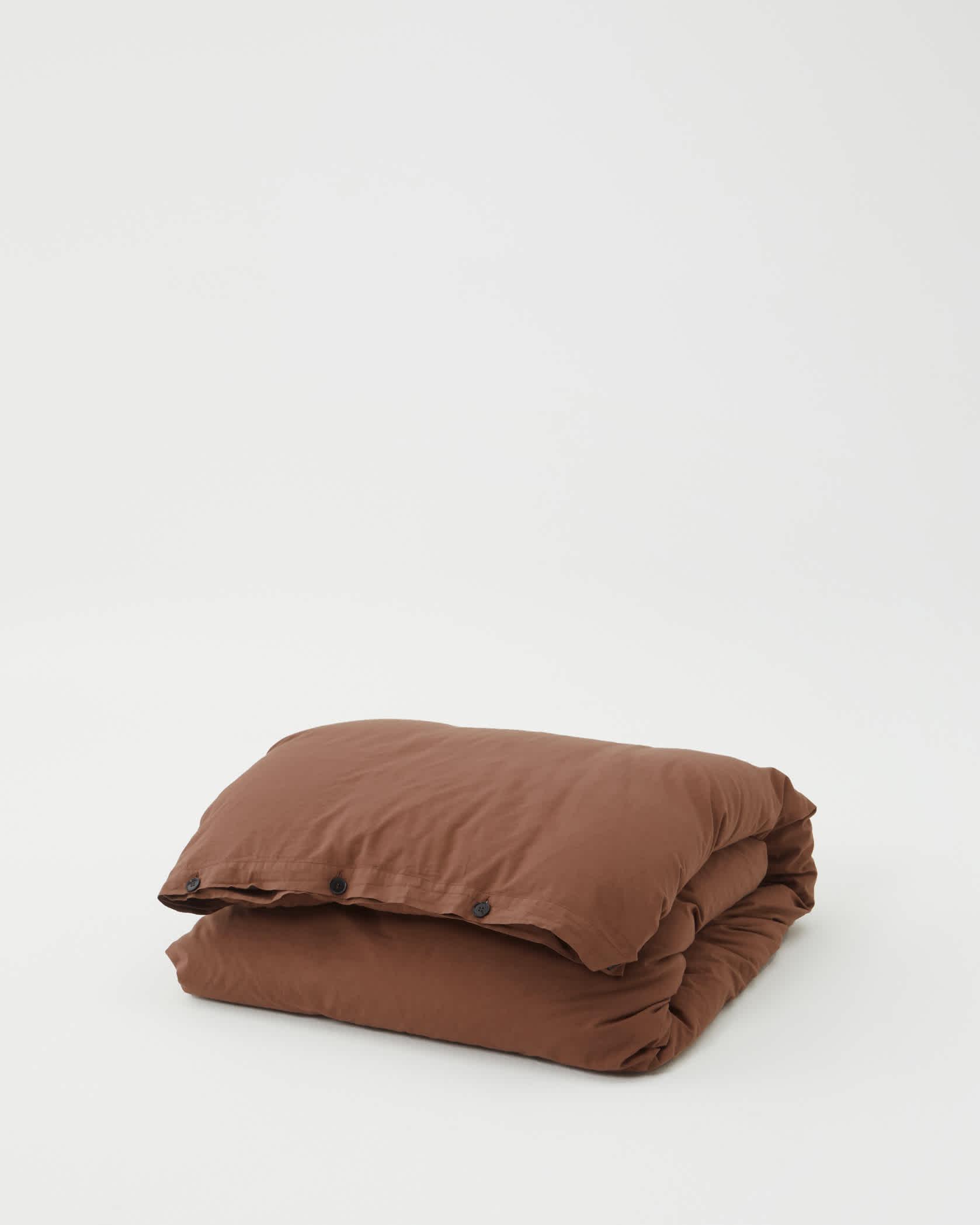 Tekla Organic Cotton Bedding - Cocoa Brown