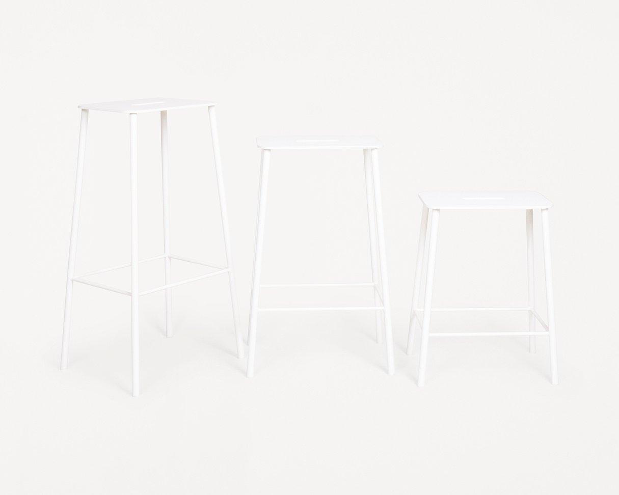 Frama Adam Stool Mono   White   H50