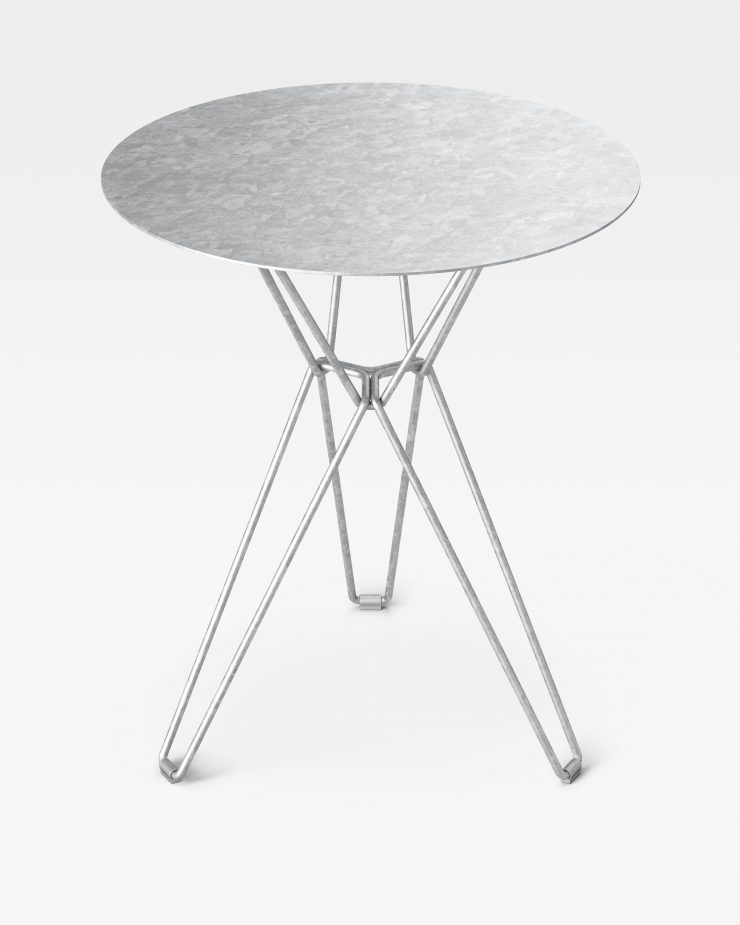 Massproductions Tio Coffee Table - Hot Dip Galvanised