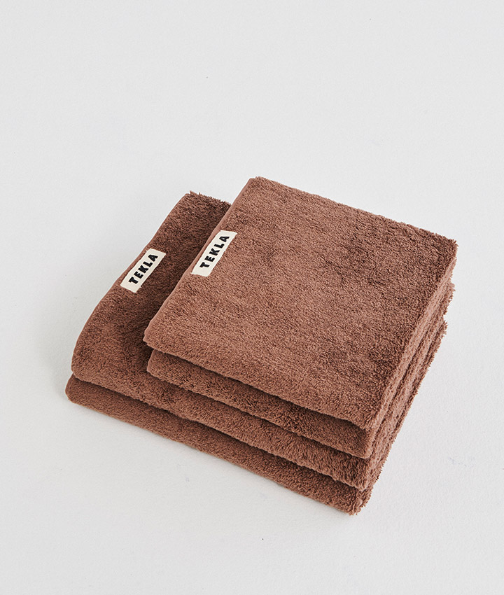 Tekla Organic Terry Towel - Kodiak Brown