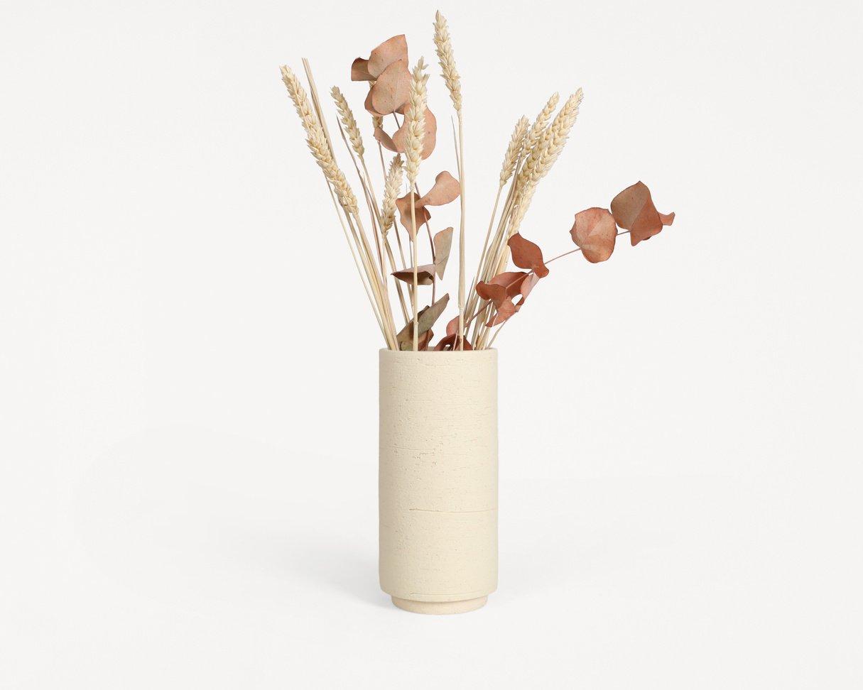 Cylinder Vase / Cream Sand / Small