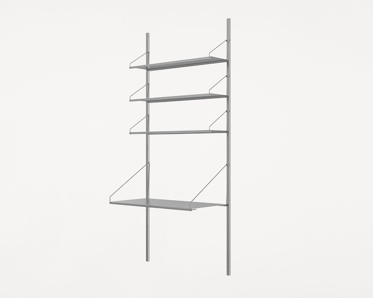 Frama Shelf Library Stainless Steel / H185,2 / Desk Section