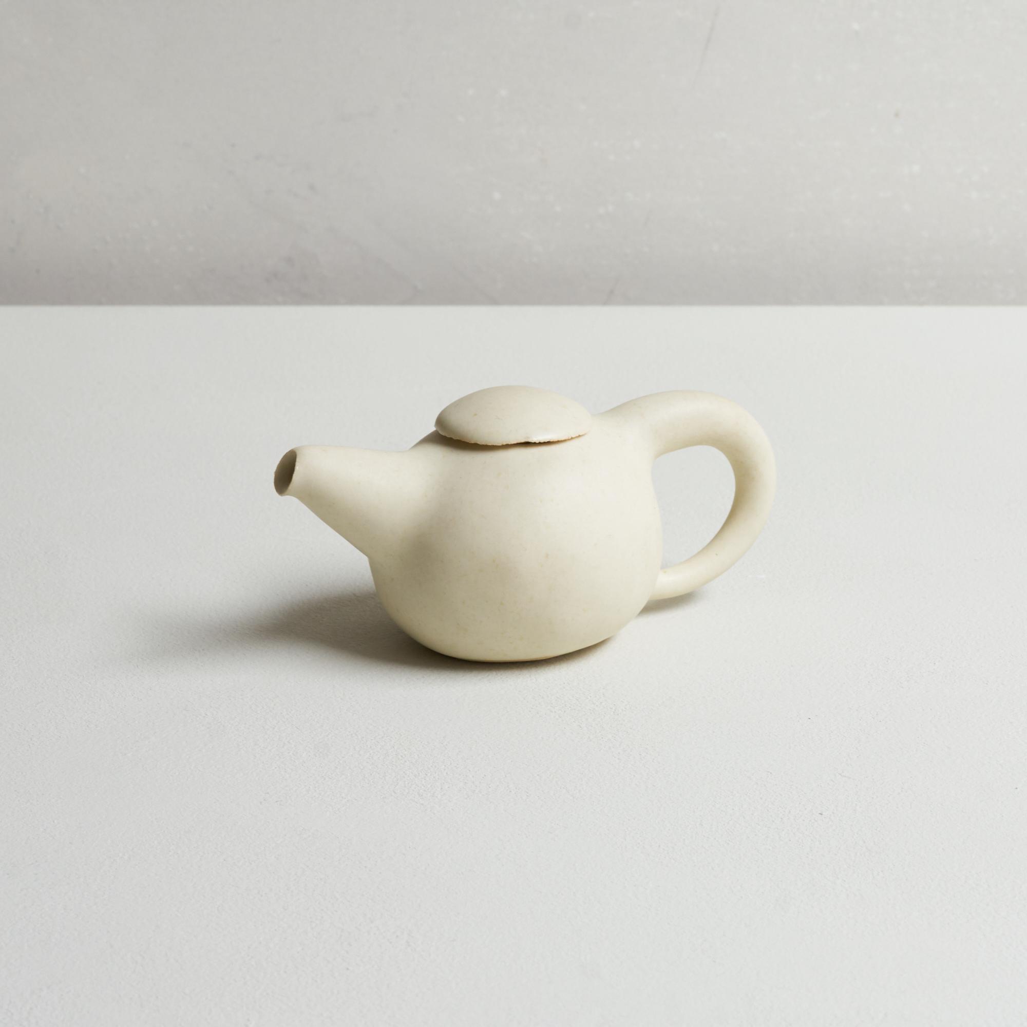 Keisuke Iwata Tea Pot Cream