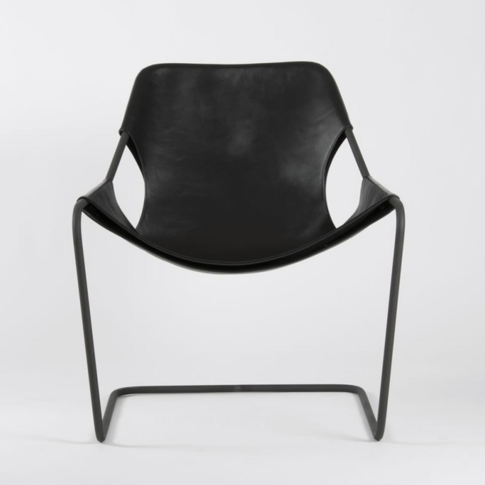Paulistano / leather / black