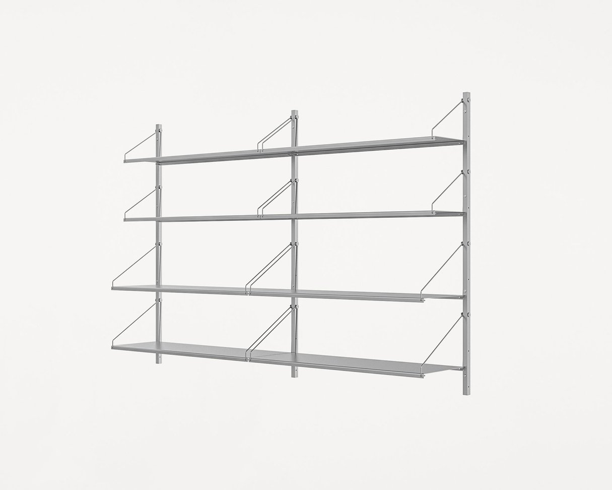 Frama Shelf Library Stainless Steel / H108,4 / Double Section