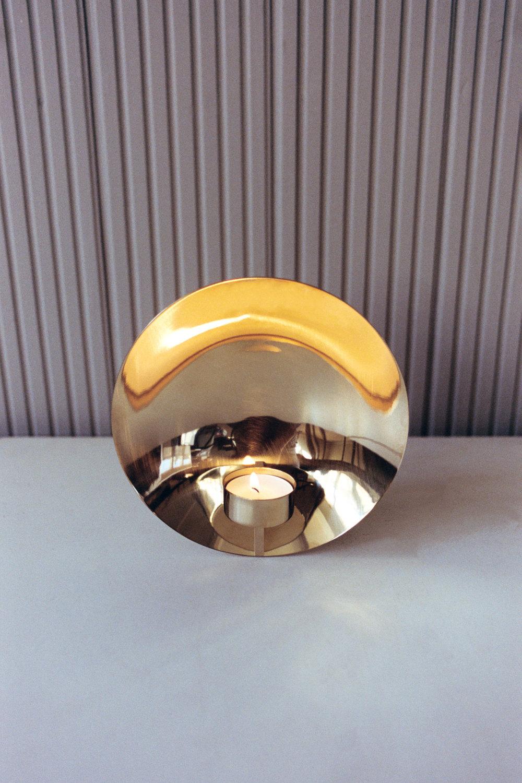 Origin Focal Candle holder Brass