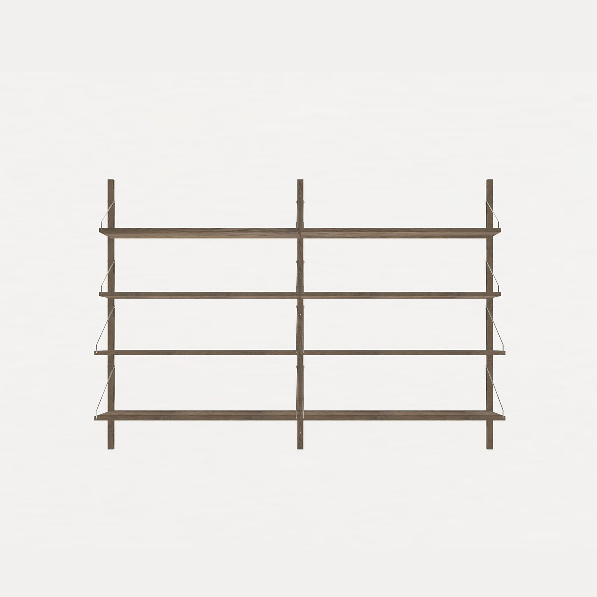 Frama Shelf Library Dark Oak H1148 / Double section