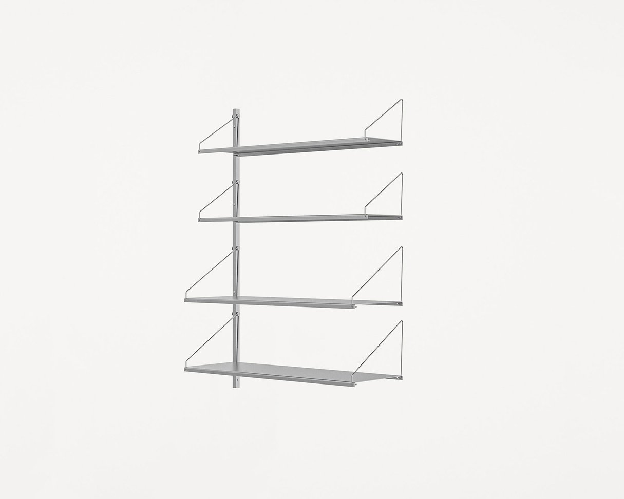 Frama Shelf Library Stainless Steel / H108,4 / W80 Section Add-on